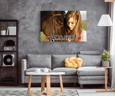 Personalized Name Horse Canvas