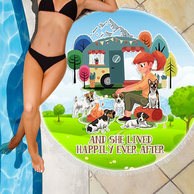 AND SHE LIVED HAPPILY EVER AFTER BEACH/PICNIC BLANKET