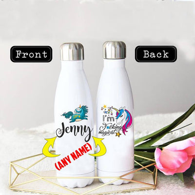 PERSONALIZED MAGICAL UNICORN STAINLESS STEEL THERMAL BOTTLE