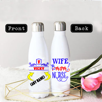 WIFE MOM NURSE STAINLESS STEEL THERMAL BOTTLE