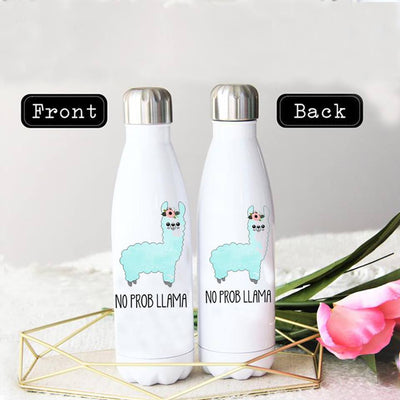 NO PROBLEM LLAMA STAINLESS STEEL THERMAL BOTTLE