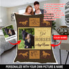 Once upon a time personalized horse blanket