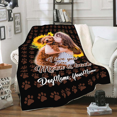 Personalized I Love You To The Moon And Back Blanket
