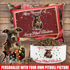 PERSONALIZED PITBULL DOG BED AND BOWL