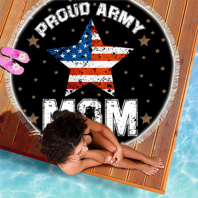 PROUD ARMY MOM BEACH/PICNIC BLANKET