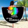 RAINBOW SHEEP OF THE FAMILY BEACH/PICNIC BLANKET