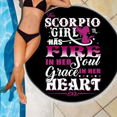 SCORPIO GIRL BEACH/PICNIC BLANKET