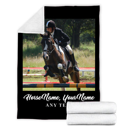 SHOW JUMPING PERSONALIZED HORSE BLANKET
