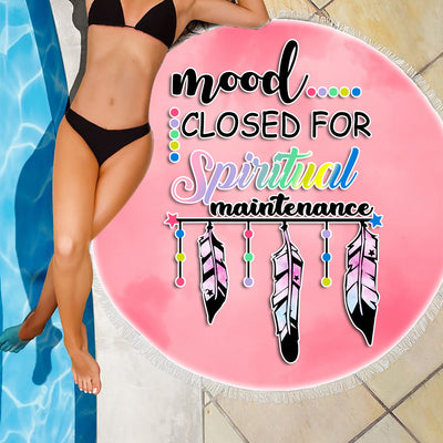 MOOD CLOSED FOR SPIRITUAL MAINTENANCE BEACH/PICNIC BLANKET
