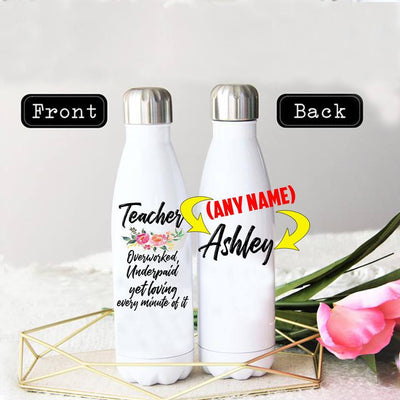PERSONALIZED TEACHER'S LOVE STAINLESS STEEL THERMAL BOTTLE