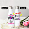 PERSONALIZED THYROID CANCERS AWARENESS THERMOS BOTTLE