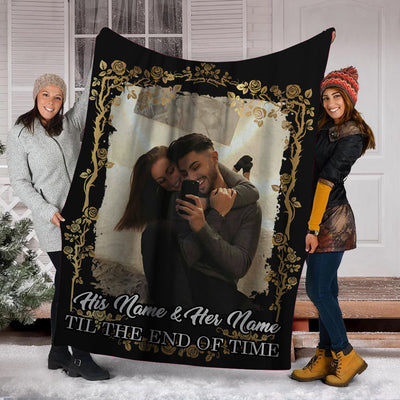 PERSONALIZED COUPLES TIL THE END TIME BLANKET