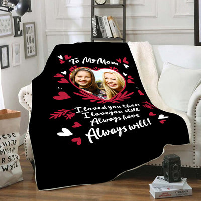 TO MY MOM PERSONALIZED BLANKET
