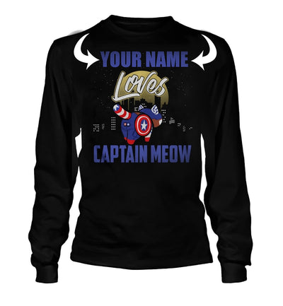 <YOUR NAME> LOVES CAPTAIN MEOW