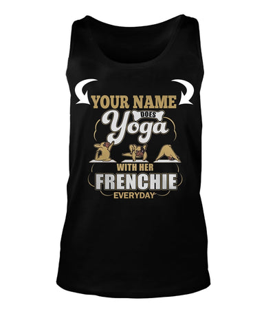 <YOUR NAME>DOES YOGA WITH HER FRENCHIE TODAY