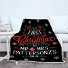 PERSONALIZED COUPLE TOGETHER THROW PILLOW  AND BLANKET