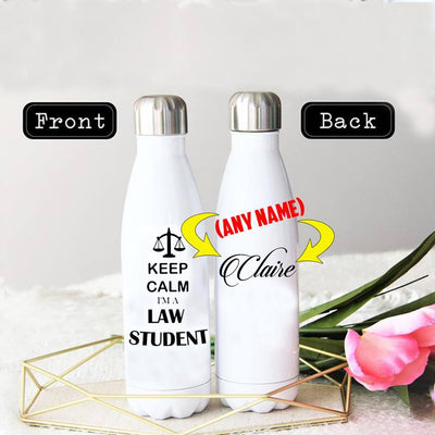 PERSONALIZED LAW STUDENT STAINLESS STEEL THERMAL BOTTLE