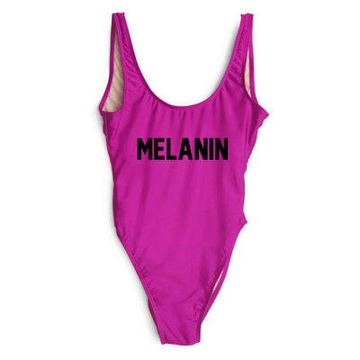 One Piece Swimsuit Melanin Print