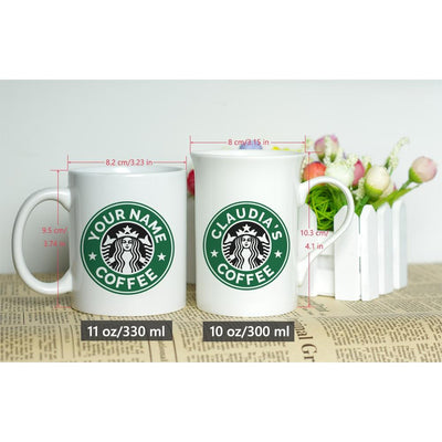 MOM'S WHITE CERAMIC CLASSIC COFFEE CUP