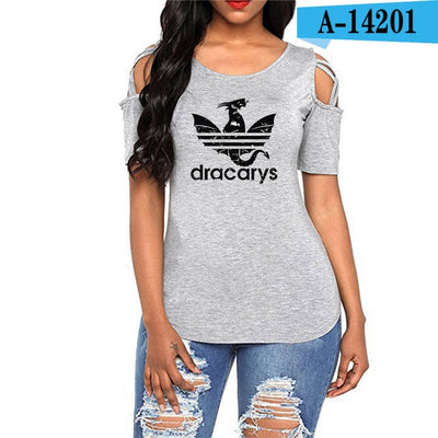 DRACARYS HARAJUKU OFF SHOULDER WOMEN TOPS