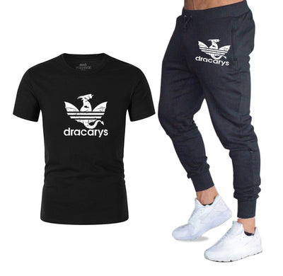 DRACARYS HARAJUKU MEN'S SHIRT AND SWEATPANTS