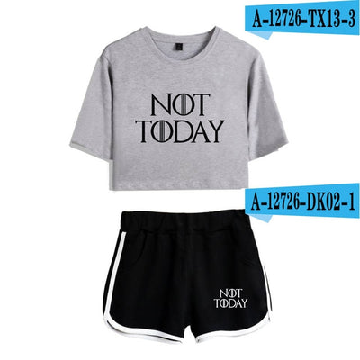 NOT TODAY WOMEN'S SHIRT AND SHORT