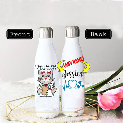 PERSONALIZED RADIOLOGIST STAINLESS STEEL THERMAL BOTTLE