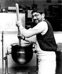 Chuck Herlocher makes mustard at the Train Station in State College, PA