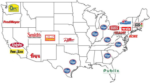 Map of Stores that Carry Herlocher's Dipping Mustard
