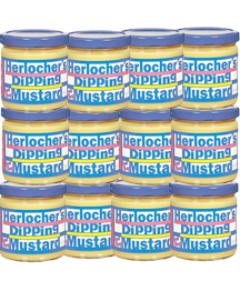 Case of 8oz Herlocher's Dipping Mustard (12 jars)
