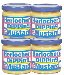 4 Pack of 8oz Herlocher's Dipping Mustard Jars
