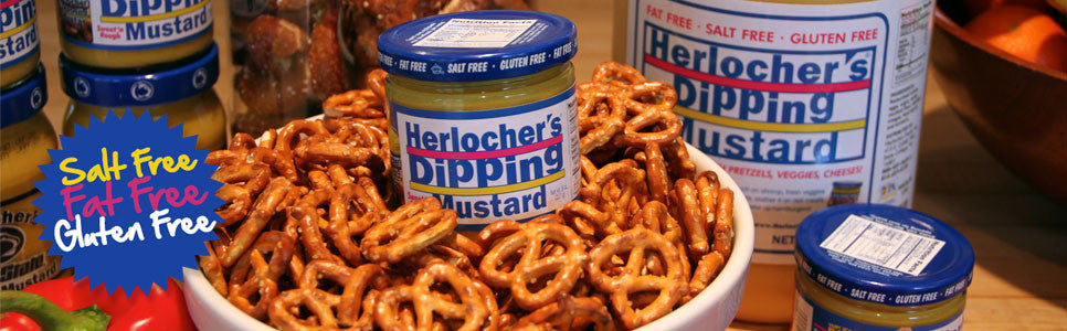 Herlocher's Dipping Mustard  with pretzelsimage