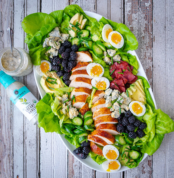 Blackberry Cobb Salad with Blue Cheese Dressing