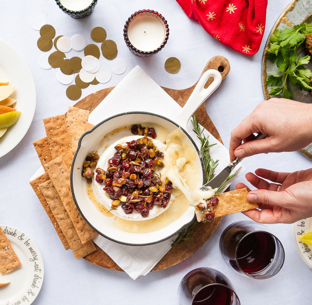 Honey Poppyseed Baked Brie