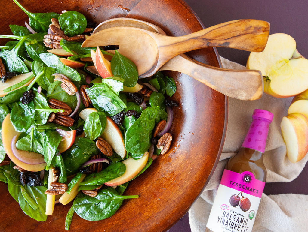 Apple, Cherry, Pecan Salad with Balsamic Vinaigrette
