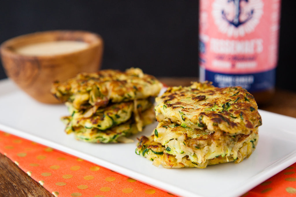 Zucchini Fritters with Sesame Ginger Mayonnaise