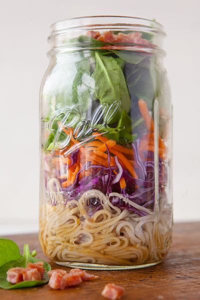 Soy Ginger Retro Recipe: Crunchy Soba Salad with Bacon