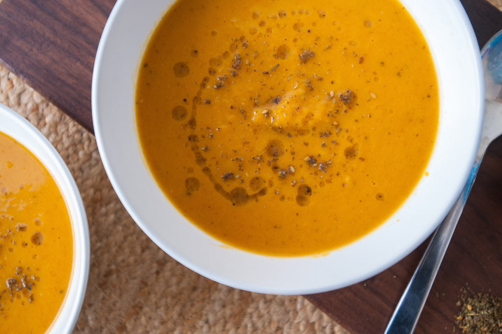 Sweet Potato Soup with Za'atar Seasoning