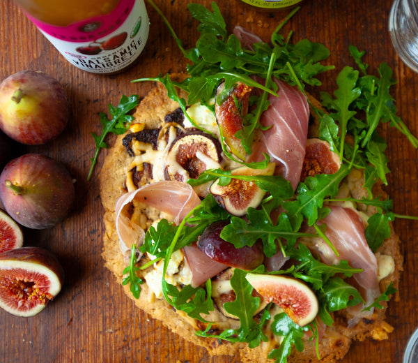 Fig & Goat Cheese Pizza with Slow Roasted Garlic