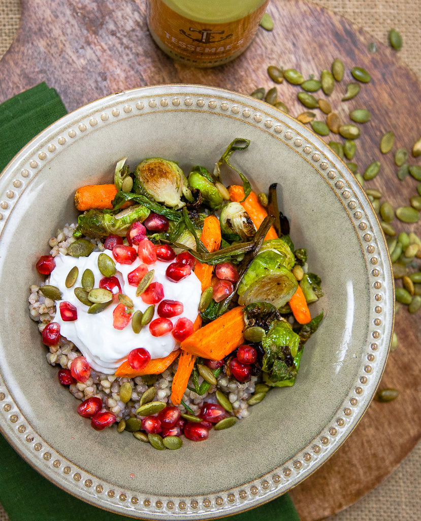 Roasted Winter Veggie Grain Bowls