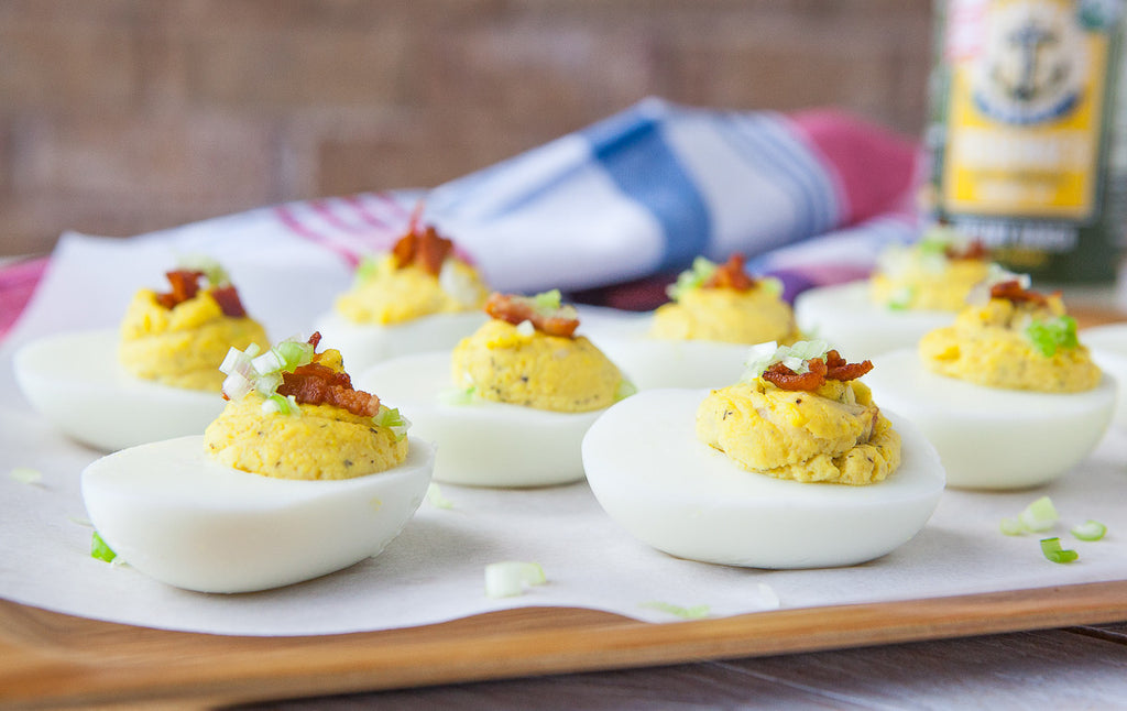 Bacon Creamy Ranch Deviled Eggs