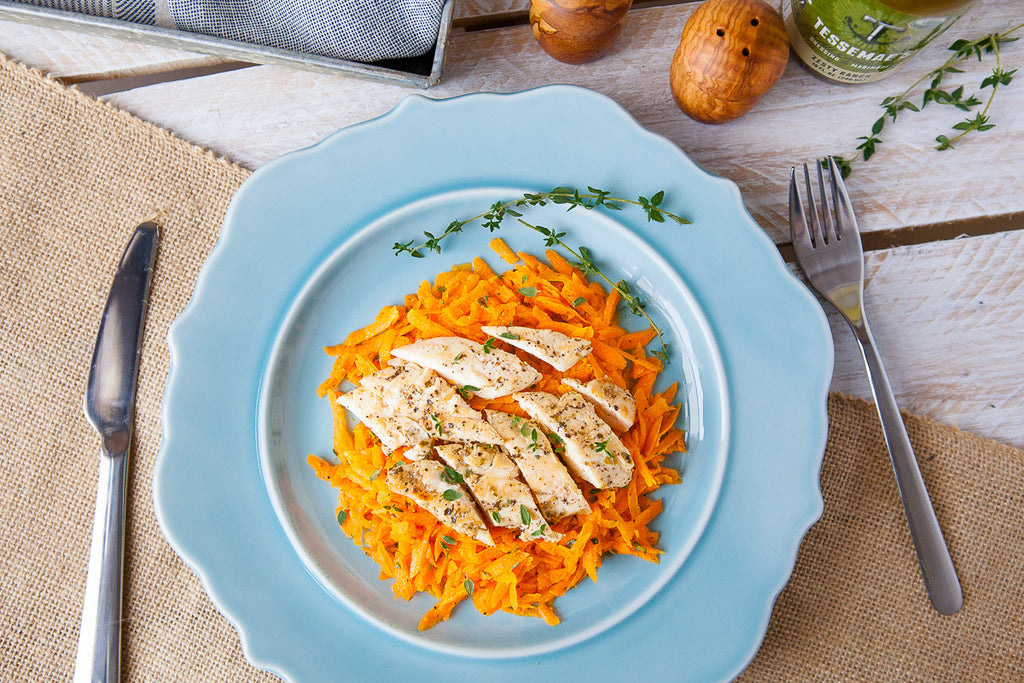 Carrot & Thyme Salad with Chicken