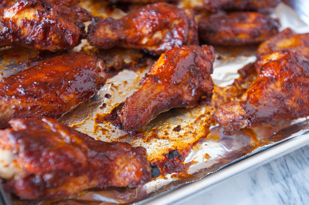 Oven-Roasted Sticky BBQ Wings