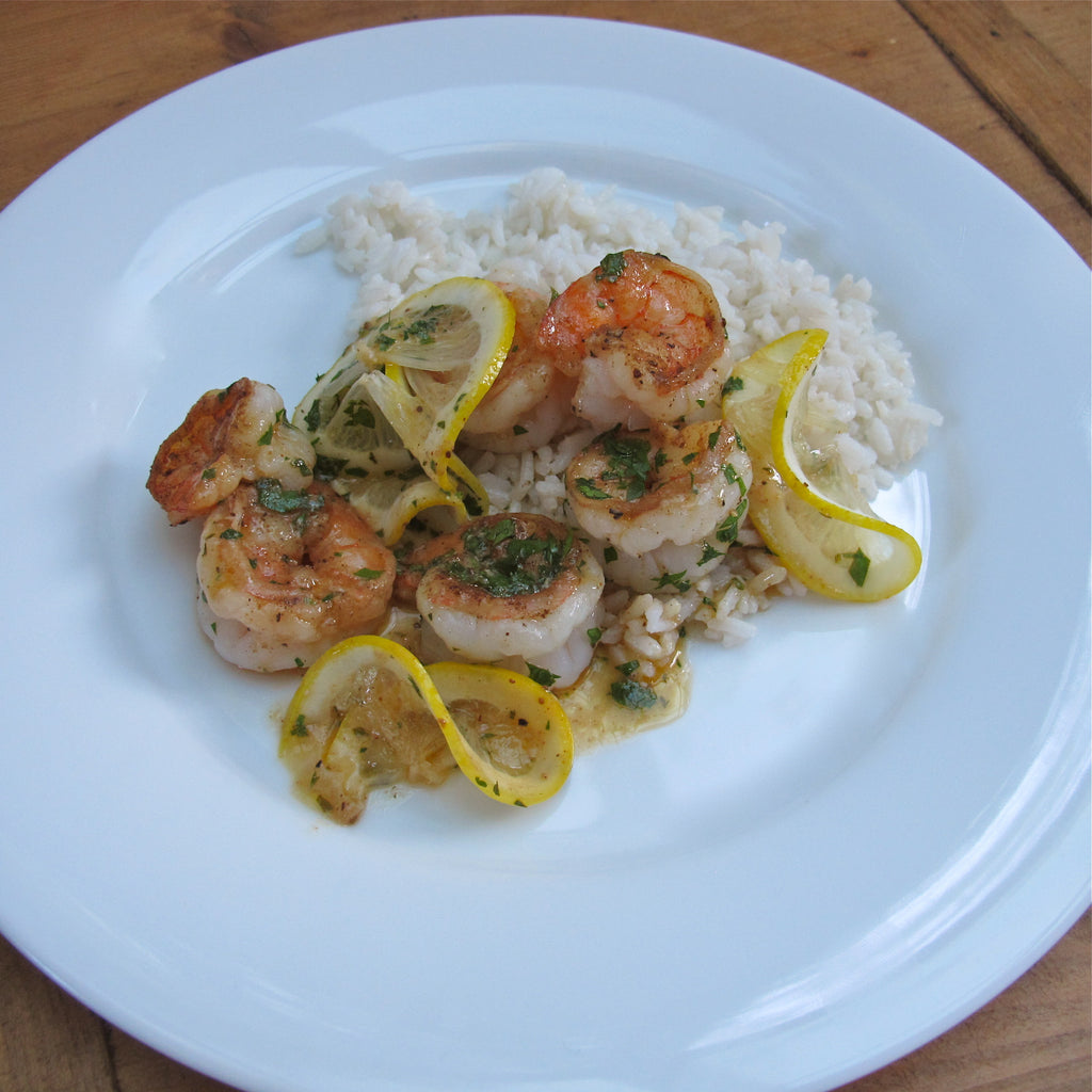 Sauteed Lemon Chesapeake Shrimp