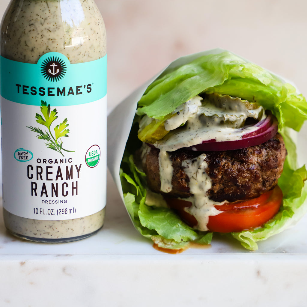 Creamy Ranch & Pickle Burgers
