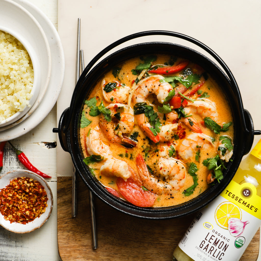 One Pot Thai Coconut Curry Shrimp