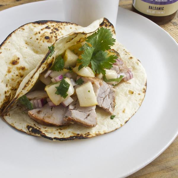 Roasted Pork Tacos with Pear Salsa