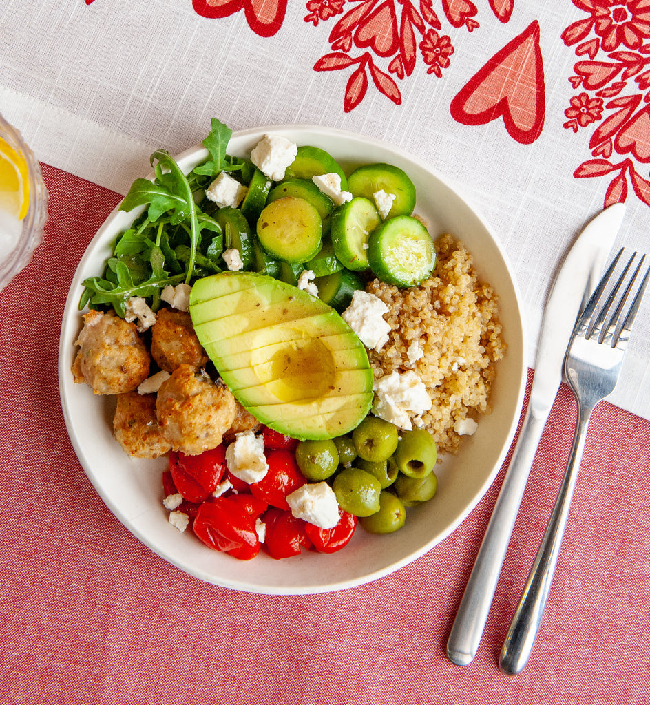 Italian Chicken Meatball & Quinoa Bowl