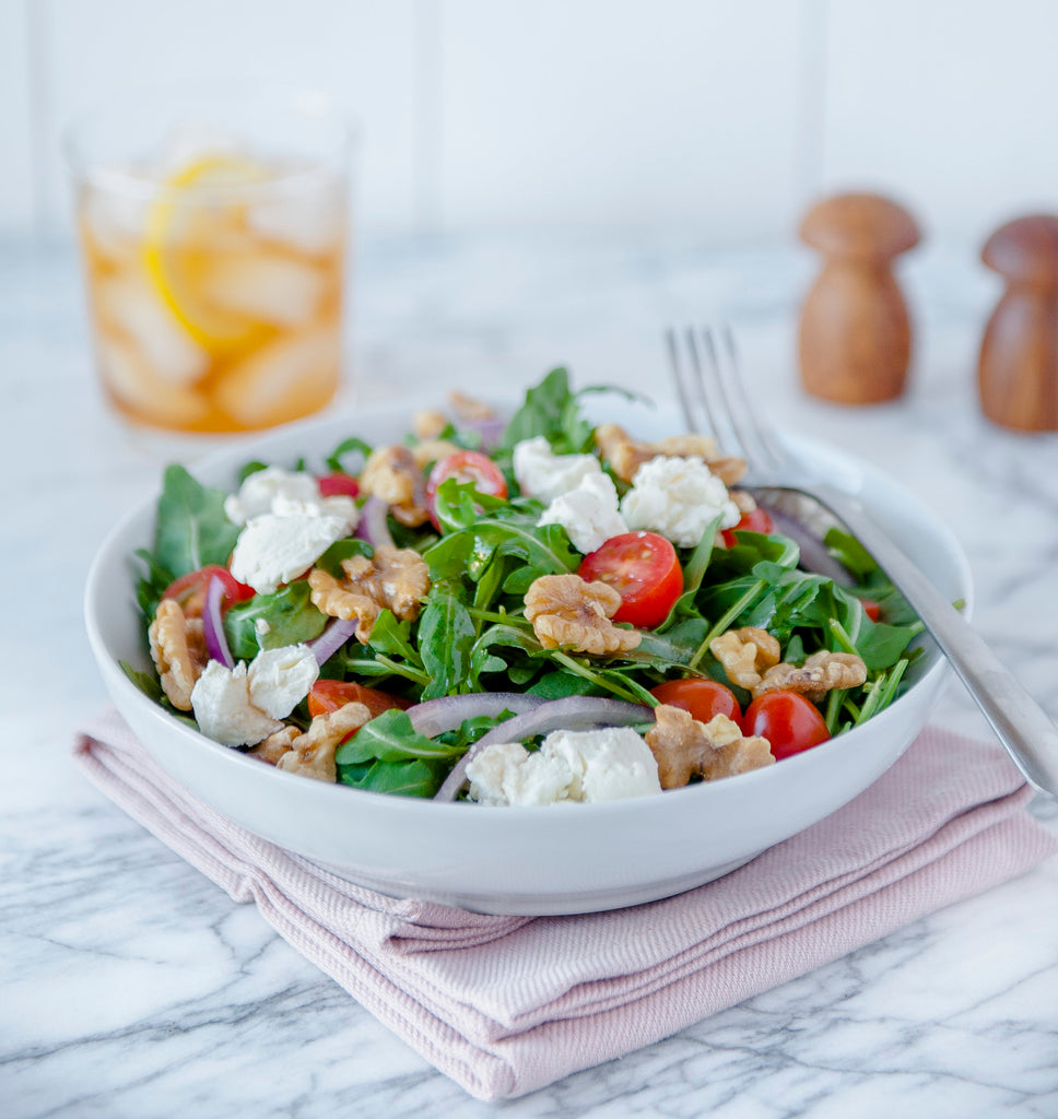 Balsamic Arugula & Goat Cheese Salad