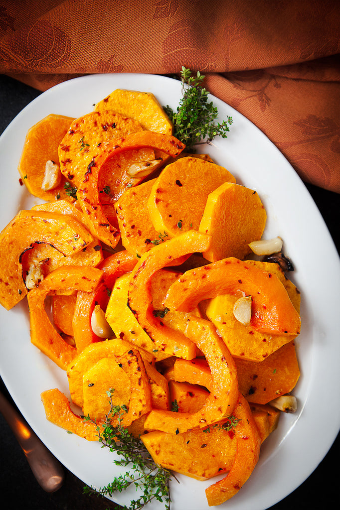 Soy Ginger Glazed Butternut Squash